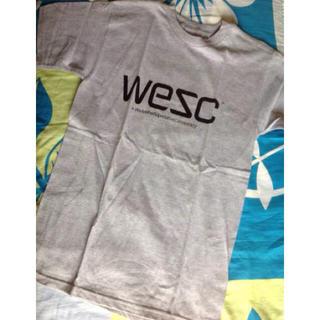 ウィーエスシー(WeSC)のWeSCウイーエスシー限定ベーシックロゴTシャツ S アッシュ(Tシャツ/カットソー(半袖/袖なし))