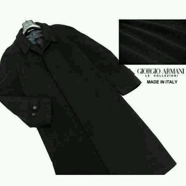 on sale f32cd 84e3b 定価¥118,800 イタリア製 ジョルジオアルマーニ ロングコート 黒/50 | フリマアプリ ラクマ