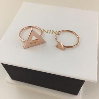 ナイン(NINE)の【未使用】NINE/ナイン☆2点セットリング 指輪 ピンキーリング(リング(指輪))