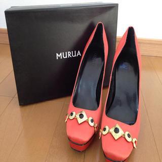 ムルーア(MURUA)のMURUAオレンジパンプス(ハイヒール/パンプス)
