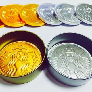 スターバックスコーヒー(Starbucks Coffee)の韓国スターバックス限定 コインチョコレート 未開封(菓子/デザート)