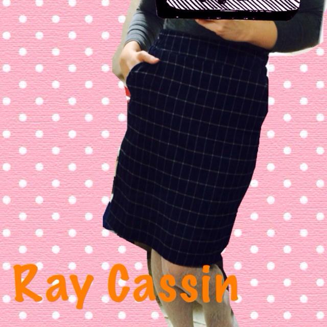 RayCassin(レイカズン)の送料こみ♪膝丈チェックスカート レディースのスカート(ひざ丈スカート)の商品写真