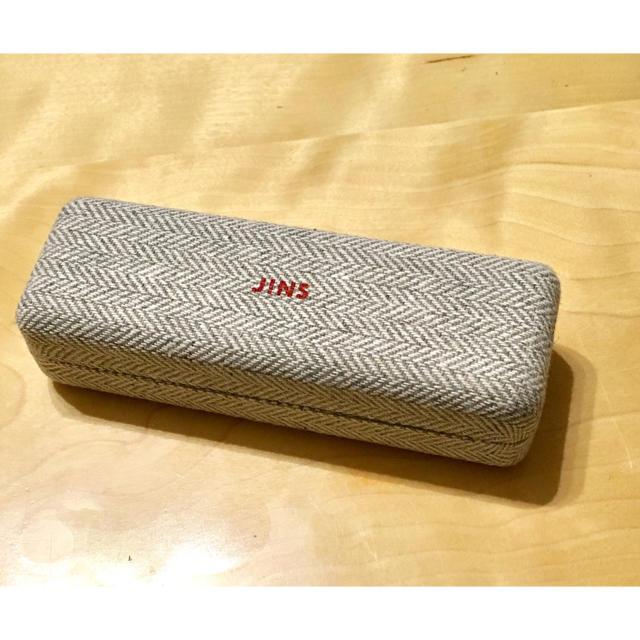 【未使用】JINS メガネケース グレー レディースのファッション小物(サングラス/メガネ)の商品写真