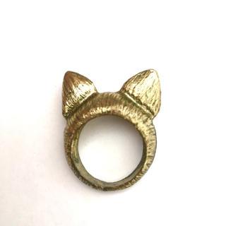 指輪 猫耳 (同梱100円引き)(リング(指輪))