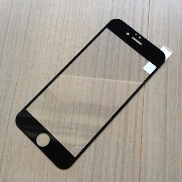【即日発送】全面ガラスフルカバーiPhone7/6/6s強化ガラスフィルム(黒 ハンドメイドの素材/材料(その他)の商品写真