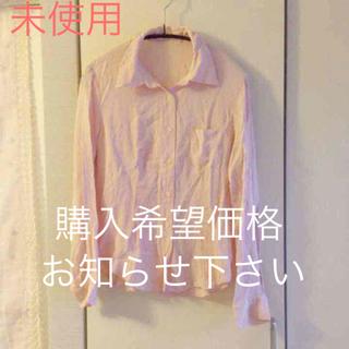 ドゥファミリー(DO!FAMILY)の未使用 レーヨン ピンク シャツ(シャツ/ブラウス(長袖/七分))