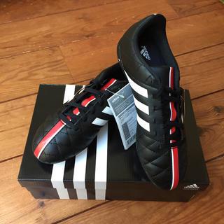 アディダス(adidas)の新品 アディダス サッカーシューズ 23センチ 黒(スニーカー)