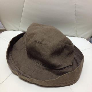 アニエスベー(agnes b.)のアニエスベー 麻100%  帽子(ハット)