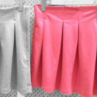 マーキュリーデュオ(MERCURYDUO)のタックフレアスカート pink(ミニスカート)
