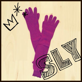 スライ(SLY)の【新品】SLY ロング 手袋 込 値下げ(手袋)