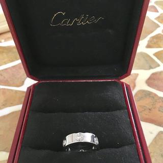 カルティエ(Cartier)の美品 ラブリング フルダイヤ カルティエ(リング(指輪))