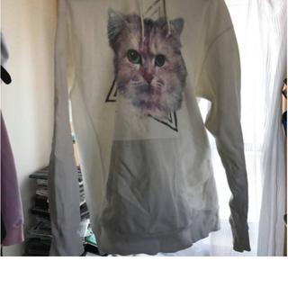 ミルクボーイ(MILKBOY)の即購入OK THE TEST ネコ パーカー ホワイト (パーカー)