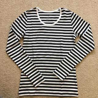 ムジルシリョウヒン(MUJI (無印良品))のmuji♡白×黒ボーダー 長袖 カットソー(Tシャツ(長袖/七分))