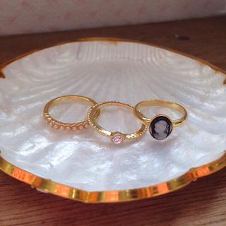 アクアガール(aquagirl)のアクアガール リング3点セット(リング(指輪))