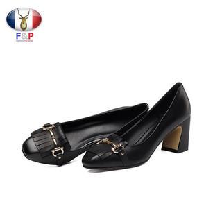 フリンジタッセルハラコパンプス(ローファー/革靴)