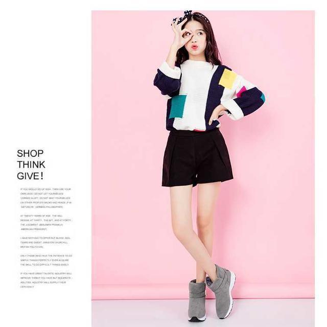 【22.5cm】激カワ♪今季モデル♪ SALE! ムートンブーツ ブラックC レディースの靴/シューズ(ブーツ)の商品写真