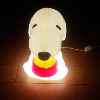 スヌーピー(SNOOPY)の  週末限定お値下げ4000→3399 昭和  SNOOPY ライト(フロアスタンド)