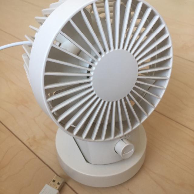 MUJI (無印良品)(ムジルシリョウヒン)の無印良品のUSBデスクファン スマホ/家電/カメラの冷暖房/空調(サーキュレーター)の商品写真