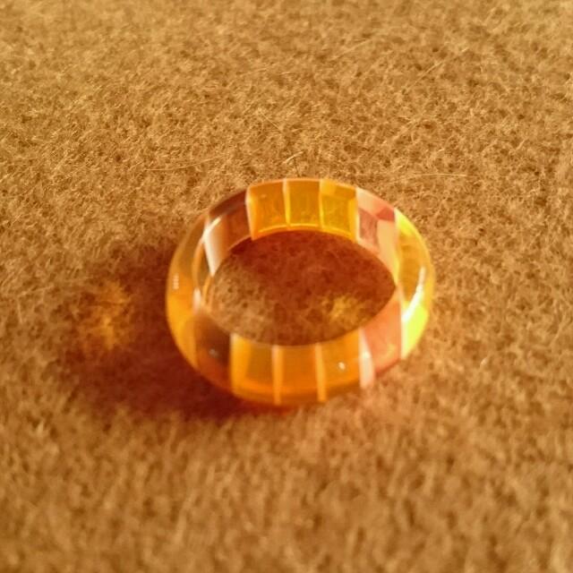 オレンジ リング レディースのアクセサリー(リング(指輪))の商品写真