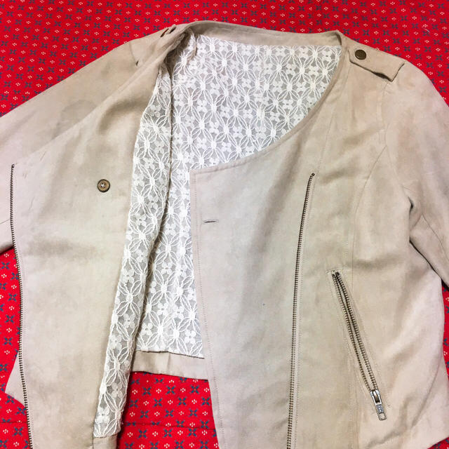 YECCA VECCA(イェッカヴェッカ)のYECCA VECCA ジャケット ノーカラーコート スウェード ブルゾン レディースのジャケット/アウター(ノーカラージャケット)の商品写真