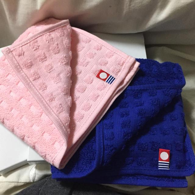 今治ハンドタオル2Pセット♡ピンクとブルー レディースのファッション小物(ハンカチ)の商品写真