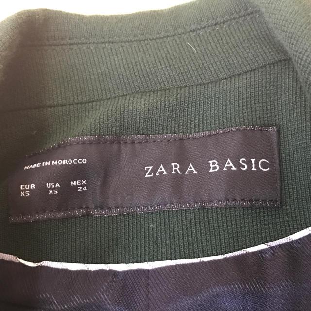 ZARA(ザラ)のZARAモスグリーンジャケット レディースのジャケット/アウター(テーラードジャケット)の商品写真