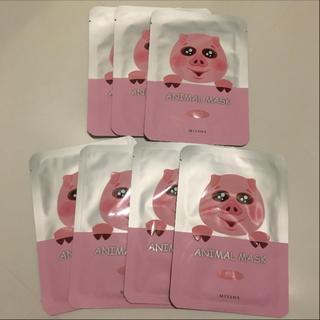 ミシャ(MISSHA)のアニマルパック 韓国 MISSHAフェイスパック マスク 7枚セット(パック/フェイスマスク)