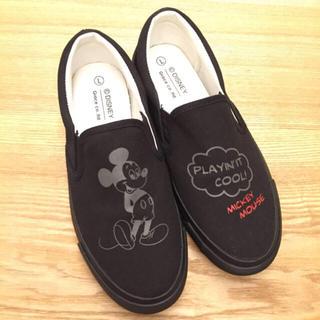 ディズニー(Disney)のchomo様専用、ミッキースリッポン(スリッポン/モカシン)
