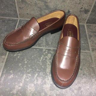 ジーティーホーキンス(G.T. HAWKINS)の専用  ホーキンス 茶 G.T.HAWKINS 本革 24〜24.5cm (ローファー/革靴)