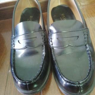 ローファー黒24.5cmEEE(ローファー/革靴)