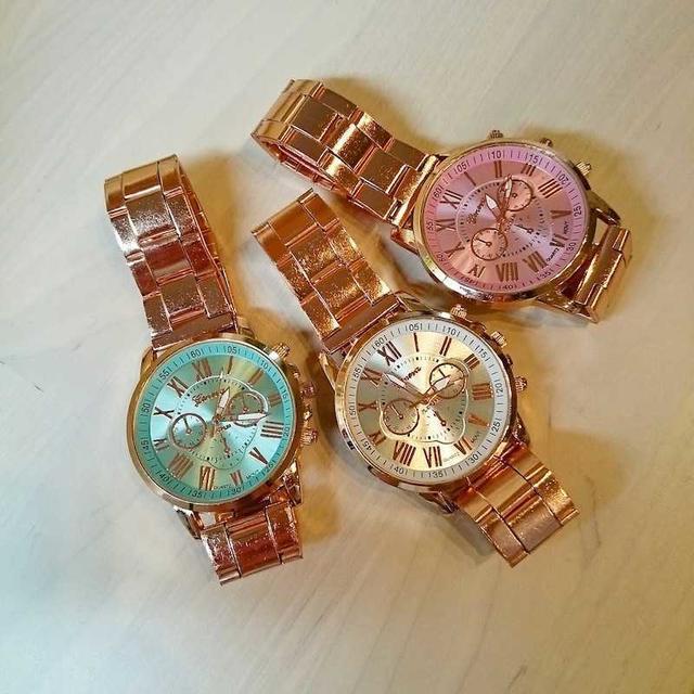 【ホワイト】高級感溢れる ピンクゴールド 時計 ウォッチ 373-2 メンズの時計(腕時計(アナログ))の商品写真