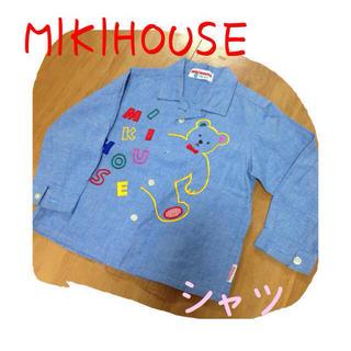 ミキハウス(mikihouse)のMIKIHOUSE★デニム風シャツ★90(シャツ/ブラウス(長袖/七分))