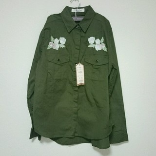 シマムラ(しまむら)のしまむら 刺繍ミリタリーシャツ(ミリタリージャケット)