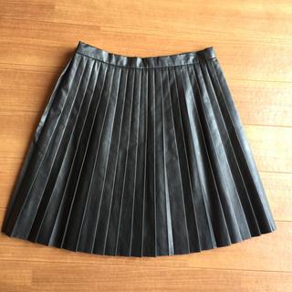 マーキュリーデュオ(MERCURYDUO)のプリーツレザースカート(ミニスカート)