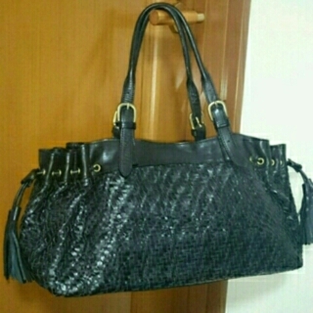 selvedge(セルヴィッジ)のselvedge  セルヴィッジ  メッシュ  トートバッグ   黒  ブラック レディースのバッグ(トートバッグ)の商品写真