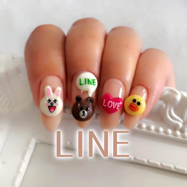 LINE キャラクター♡ブラウン コニー サリー コスメ/美容のネイル(デコパーツ)の商品