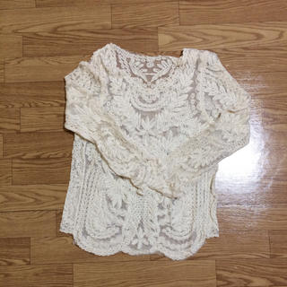 レース トップス(Tシャツ(長袖/七分))
