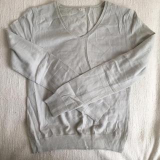 ムジルシリョウヒン(MUJI (無印良品))の無印良品 カシミア Vネックセーター(ニット/セーター)