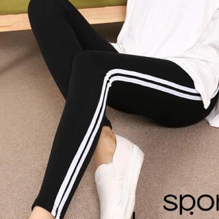 アディダス(adidas)のラインレギンス☆今期 新作★ブラック ホワイト adidas モノトーン(レギンス/スパッツ)