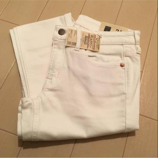 MUJI (無印良品)(ムジルシリョウヒン)の無印良品 白デニムスキニー レディースのパンツ(デニム/ジーンズ)の商品写真