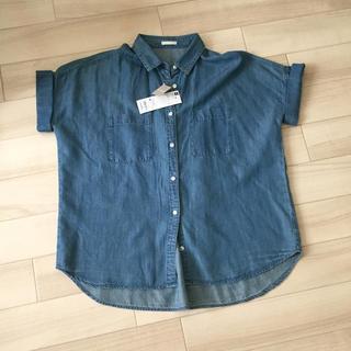 ジーユー(GU)のGU デニムシャツ(シャツ/ブラウス(半袖/袖なし))
