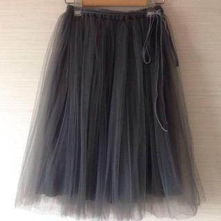 ビリティスディセッタン(Bilitis dix-sept ans)のビリティスのチュールスカート グレー♡(ひざ丈スカート)