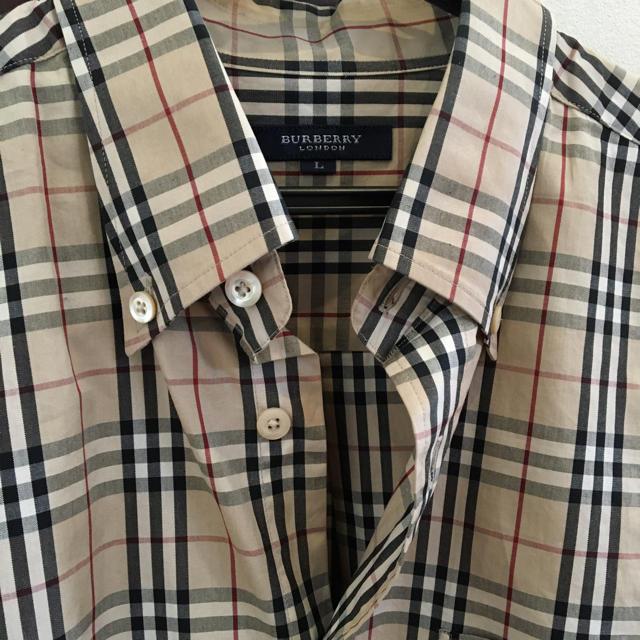 affe77b8103647 BURBERRY(バーバリー)のバーバリー メンズ 半袖シャツ 美品! Lサイズ メンズの