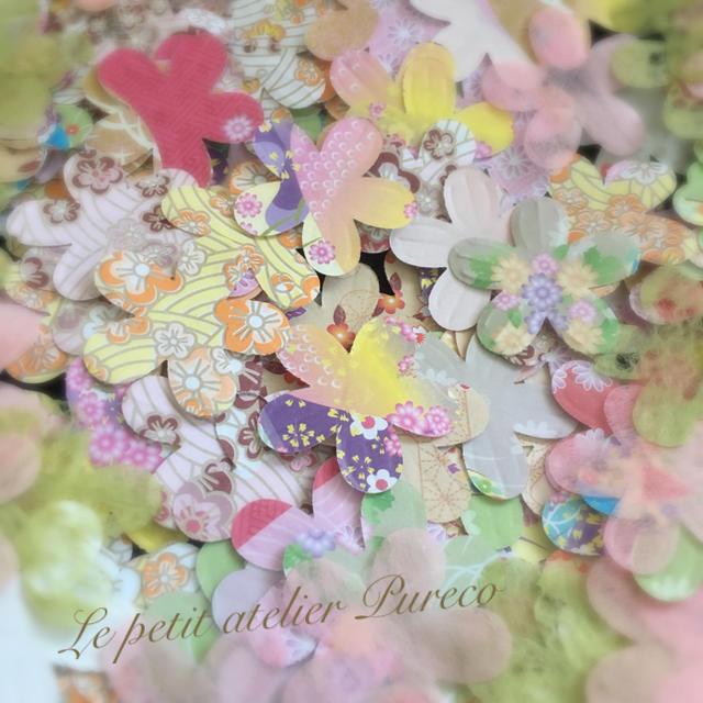 和柄ミックス ペーパークラフト〜フラワー〜 ハンドメイドの素材/材料(その他)の商品写真