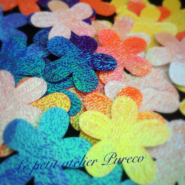 オーロラ ペーパークラフト〜フラワー〜 ハンドメイドの素材/材料(型紙/パターン)の商品写真