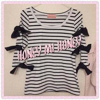 ハニーミーハニー(Honey mi Honey)のHONEY MI HONEY❁七分袖リボン付きロンT(Tシャツ(長袖/七分))