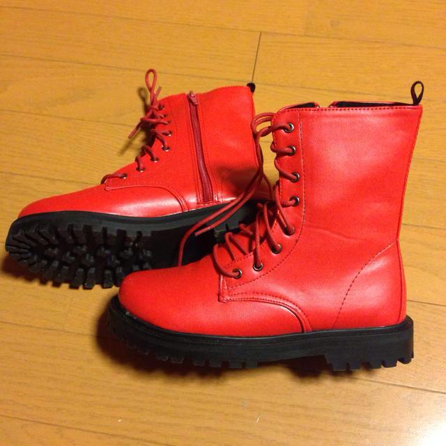 赤✯ブーツ レディースの靴/シューズ(ブーツ)の商品写真
