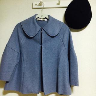 ドットアンドストライプスチャイルドウーマン(Dot&Stripes CHILDWOMAN)のウール裾フレア丸衿ショートコート(その他)