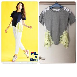 チェスティ(Chesty)のFILAコラボ chesty カラーレースシャツ(Tシャツ/カットソー(半袖/袖なし))