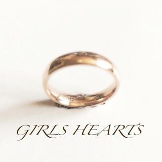 19号ピンクゴールドサージカルステンレスラブリング指輪モデル愛用値下げ残りわずか(リング(指輪))